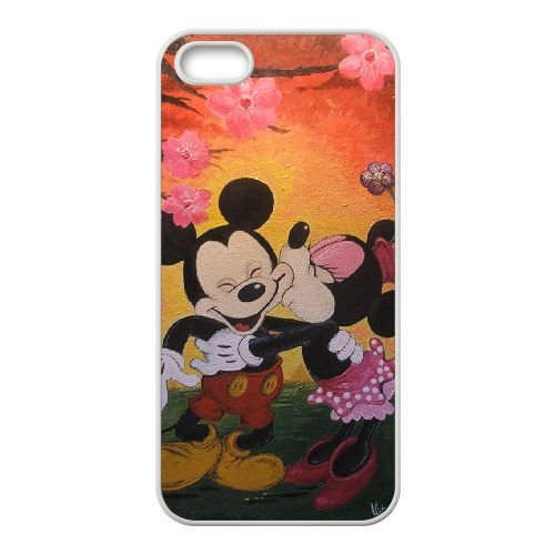 iPhone 5, 5S Cell Phone Case White Minnie Mouse Pmnpsy Hard protective Case Shell Cover