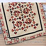 Pattern~Meditation~2 1/2in Strips Cozy Quilt