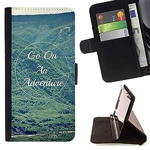Momo Phone Case / Flip Funda de Cuero Case Cover - Cita Hills verano de las montañas Vignette - LG G4
