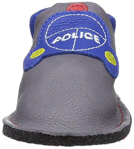 Pololo Kiga Polizei - Zapatillas de casa Niños gris