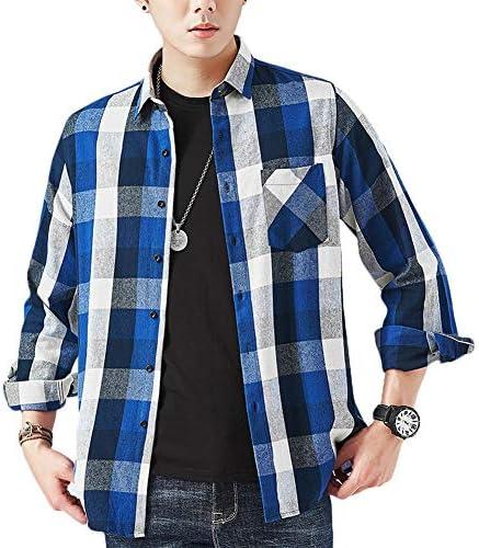 【在庫一掃セール】シャツ メンズ 秋服 ネルシャツ カジュアル チェック シャツ 大きいサイズ 綿 厚手 ファッション フランネル