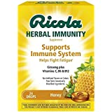 Ricola Herbal Immunity Supports Immune System Helps Fight Fatigue, Honey, 24 Drops (Pack of 2)