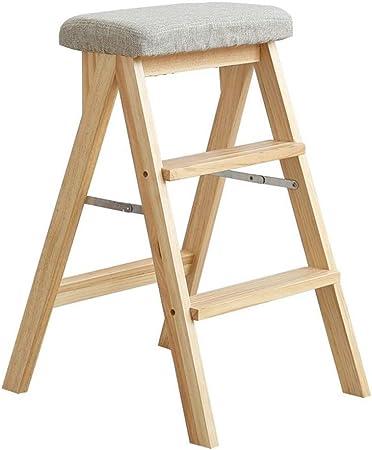 ABARB Taburete de bar casero Taburete plegable Escalera de taburete Taburete multifunción Taburete de cocina Silla de salón portátil, cojines de asiento desmontables y limpios, taburetes de madera Mob: Amazon.es: Hogar