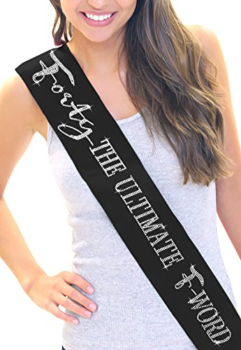 Ultimate F Word Womens Birthday RhinestoneSash com product image