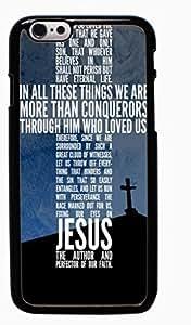 God Jesus Christ Cross Hard Case for Apple iPhone 6 6G 4.7 ( Sugar Skull )