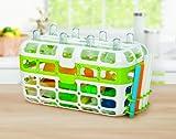 Munchkin High Capacity Dishwasher Basket, Green/Blue/Pink