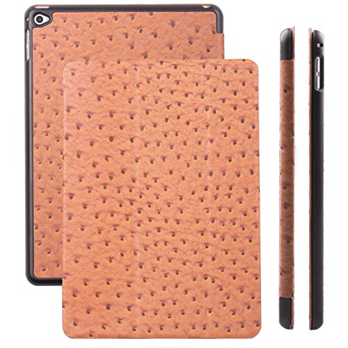 Apple iPad Air 2 Case | Ostrich caramel | iCues Ancho Cover (Snake Designer Belt)