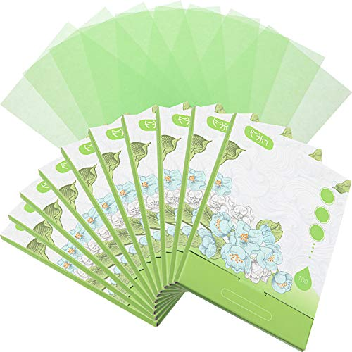 1000 Counts Oil Absorbing Sheets Oil Blotting Paper Oil Absorbing Tissues Face Facial Natural Oil Control Film Blotting…