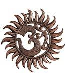 Cheap Buddha Groove Metal Om Sun Wall Hanging Copper Colored Finish Om Pocket Charm