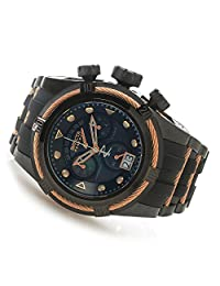 New Mens 90007 Reserve Bolt Zeus Swiss Chronograph Black Rubber Watch
