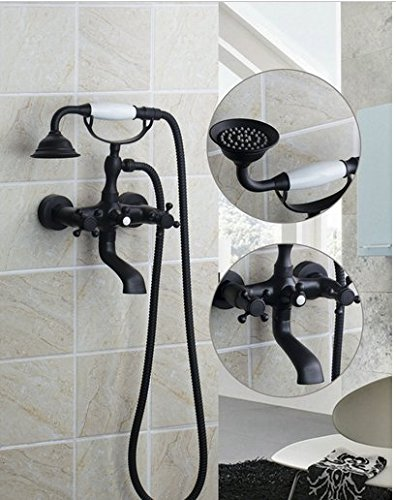 GOWE Tub Shower Set Torneira Luxury Deck Mounted Bathroom Rain Shower Faucet Set Mixer Valve With Hand Shower 0