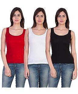 17Hills Combo of 3 Tank Top Vest Camisole Sando for Women