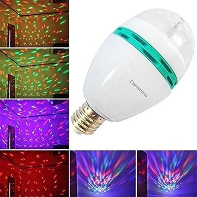 Denshine® E27 3W Colorful Rotating Disco Ball Light Mini LED RGB Crystal Magic Ball Bulb Effect light Disco DJ Stage Revolving Lighting For Xmas Home Dance Party Ballroom Club Pub Bar