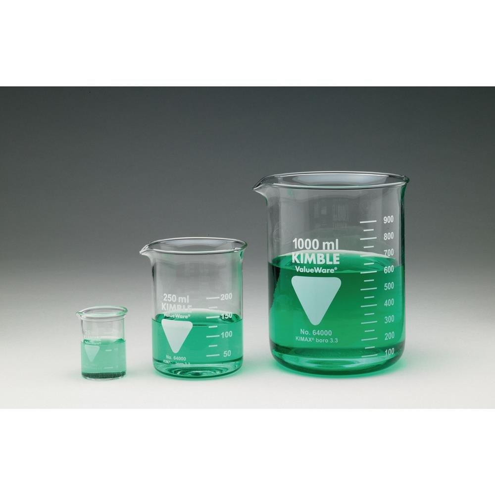 Kimble Borosilicate Beaker, Squat Form with Spout - 1000mL Smith Scientific Ltd