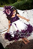 Plum Devine Girls Rosette Feather Dress
