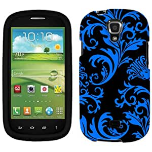 Samsung Galaxy Stratosphere II Blue Floral Damask on Black Phone Case Cover