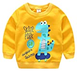 Boys Long Sleeve Cartoon Shirt Pullover Cotton Sweatshirt For Baby Toddler Ginger Dinosaur 5