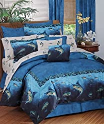 Coral Reef - Fish Bedding - Bedding 8 Pc King Comforter Set and Matching Bathroom Shower Curtain (Comforter, 1 Flat Sheet, 1 Fitted Sheet, 2 Pillow Cases, 2 Shams, 1 Bedskirt, 1 Shower Curtain) Decorate your Bathroom and Bedroom and SAVE BIG ON BUNDLING!