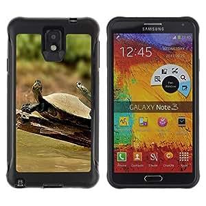 "Pulsar iFace Series Tpu silicona Carcasa Funda Case para SAMSUNG Galaxy Note 3 III / N9000 / N9005 , Tortuga Soleado Verano Tropical"""