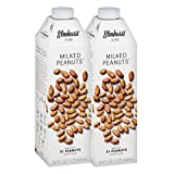 Elmhurst Milked - Peanut Milk - 32 Fluid Ounces (Pack of 2). Only 5 Ingredients, 6g Protein, Non Dairy, No Added Gums or Emulsifiers, Vegan