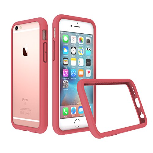iPhone 6s Case - RhinoShield [CrashGuard 2.0] Bumper [11 Ft Drop Tested] No Bulk [ShockProof Technology] Thin Lightweight Protection - Slim Rugged Cover - Also fits iPhone 6 - [Coral Pink] (Bumper Rhino)