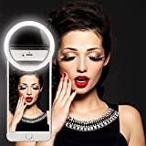 FOSITAN 36 LED Rechargeable Selfie Ring Light Portable Flash Led Camera Phone Photography Enhancing Photography for iPhones and Android Smart Phones-Black