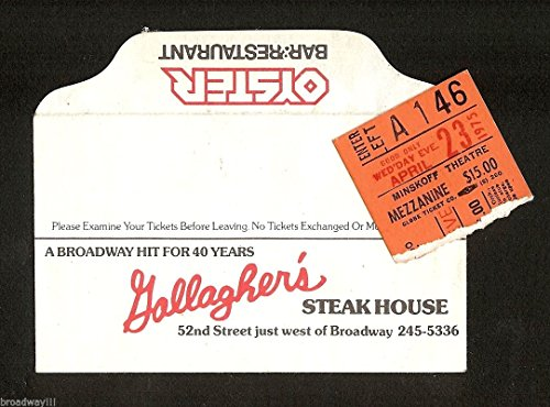"""BETTE MIDLER """"Clams on the Half Shell"""" 1975 Broadway Envelope and Ticket Stub"""