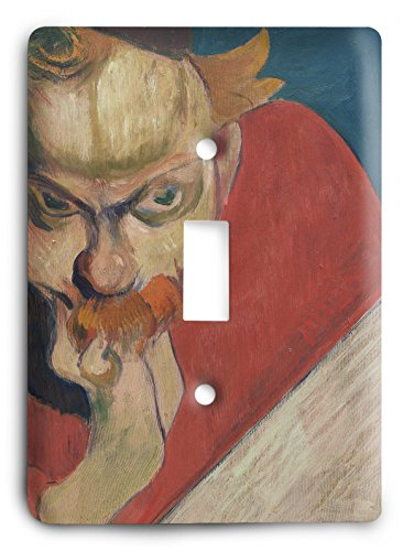 Paul Gauguin Portrait Of Jacob Meyer De Haan 1889 01 Light Switch Cover