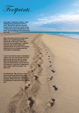 graphic relating to Footprints in the Sand Poem Printable Version titled Footprints Within just The Sand 11x17 Poster: .british isles: Kitchen area