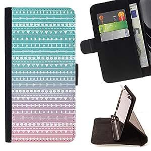Jordan Colourful Shop - native teal pink folk subtle For HTC DESIRE 816 - Leather Case Absorci???¡¯???€????€?????????&Atil