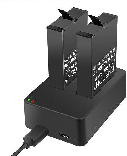 GoPro Batteria di Ricambio e Caricabatterie GO PRO HERO 4 fotocamera BATTERIE Pack x2 USB
