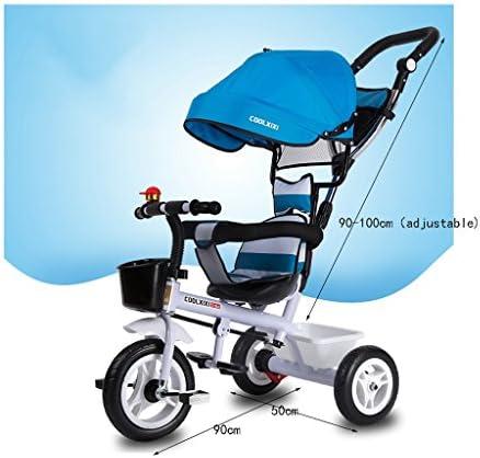 子供の三輪車の自転車ベビーカーのおもちゃの車1-3歳の子供の自転車 ( Color : Green )