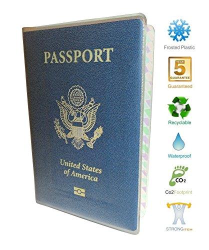 Passport Cover Holder Jacket Wallet Clear Plastic Vinyl Protector