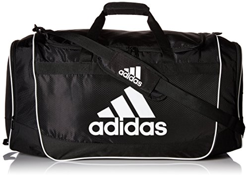 Soccer Bag (adidas Defender II Duffel Bag (Large), Black, 15 x 29 x 12-Inch)