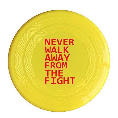 AOLM Never Walk Away From The Fight Outdoor Game Frisbee Sport Disc Yellow (Justin Bieber Picture Frame)