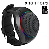 SZCHENGCI Mp3 Watch Speaker , Wearable Wrist Speaker , Indoors with LED light + MP3 Player + FM Radio + Handsfree Calls + BT Shooting + Anti-lost, Music Sports Wristband For Running, Hiking