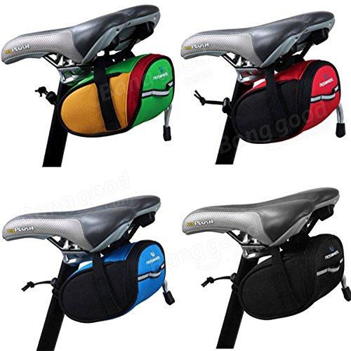 Cycling Mountain Bike Bicycle Saddle Bag Back Seat Rack Pack Tail Front Tube Pou ( Green )