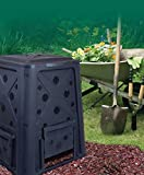 65 Gal Gallon Compost Bin Heavy duty Stationary Composter - Compost can be used for dog waste and worms