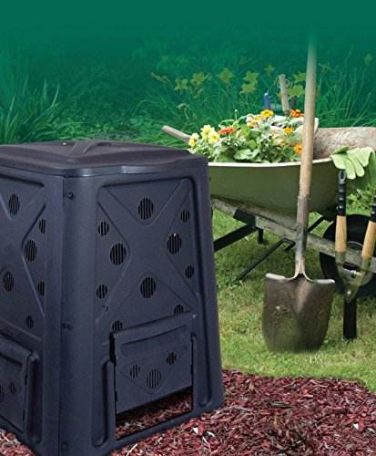65 Gal Gallon Compost Bin Heavy duty Stationary Composter - Compost can be used for dog waste and worms by Redmon