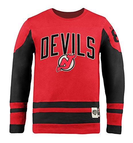 Old Time Hockey NHL New Jersey Devils Youth Dufferin Crew, Medium, Red (Old Jerseys Time Hockey)