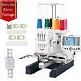 Janome MB-4S Bonus Embroidery Sewing Machine Kit With Extra M2 Hoop & A Sock Hoop Kit That Includes 2 large hoops, 2 small hoops, 2 sliders (for the S and L hoops) and 1 hoop holder
