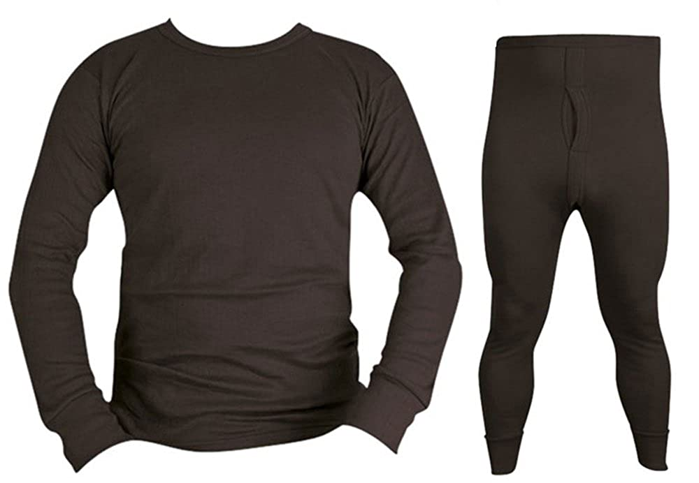 Army Military Cold Weather Winter Thermal Long Johns Bottoms Base Layer Top Underwear Military Black