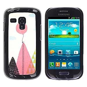 Paccase / SLIM PC / Aliminium Casa Carcasa Funda Case Cover para - Balloon Ladder Hope Inspiring Pink Polygon - Samsung Galaxy S3 MINI NOT REGULAR! I8190 I8190N