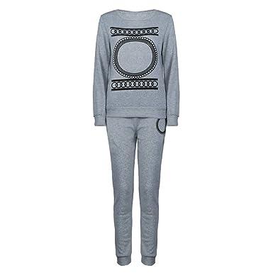 ZEZKT Sportswear Femme - Survêtements Ensembles Sportswear Femmes 2 Pièce  Sweat-Shirts + Leggings de a9d08ad2fde