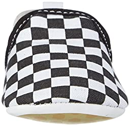 Vans Slip-On Crib All Over Print (Infant/Toddler), Black/True White, 2 M US Infant