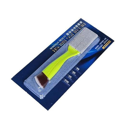 Killypo Cepillos de Limpieza de Microfibra Cepillos para Aire Acondicionado Cepillo de Limpieza para Limpiar la Ventilación de Aire del Coche y el ...