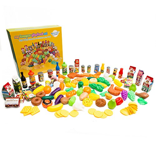 Fun Central AY966 120 Piece Pretend Play Food Assortment Set, Food Toy, Educational Toy-For Kids Imagination Inspiration]()