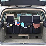 Barbarians Car Seat Back Organizer,Backseat Organizer Storage Bag for Truck, SUV, Van, Cargo with Adjustable Straps Black