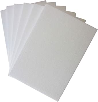 Garneck White Styrofoam Blocks Eps Foam Sheets Board Shockproof Package Gadget Storage Packing and Shipping Supplies 10pcs 60x40x1cm
