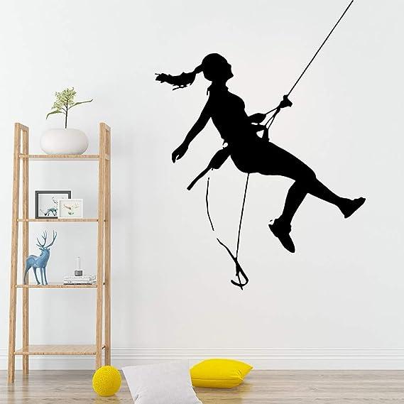 Exquisitos deportes escalada en roca etiqueta de la pared de pvc extraíble para habitaciones de niños decoración del hogar mural extraíble muursticker: Amazon.es: Bricolaje y herramientas